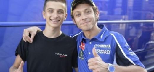 Luca Marini con Valentino Rossi
