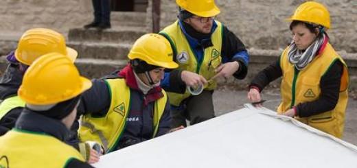 Terremoto: recupero opere d'arte da parte della Protezione civile a Castelsantangelo sul Nera