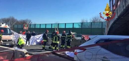 Crollo ponte A14 Ancona-Loreto, interventi Vigili del Fuoco
