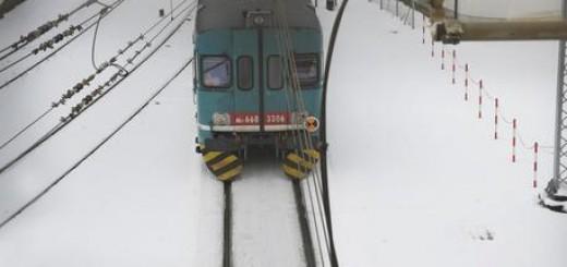 Maltempo: treno stazione Ancona