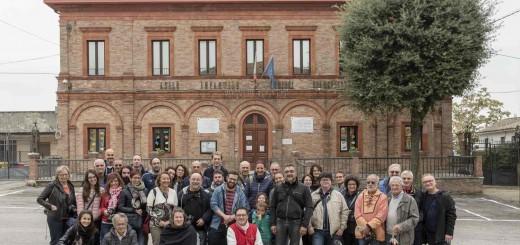 I corsisti di Centrale Fotografia nelle Terre Roveresche novembre 2018 foto Luciano Serafini