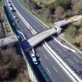 Bridge collapses onto motorway, two dead, two injured
