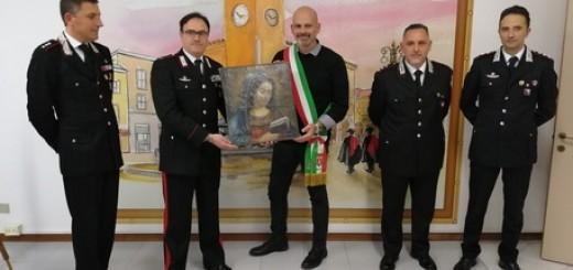 Dipinto pittrice '600 Camilla Guerrieri restituito da Cc a Fossombrone