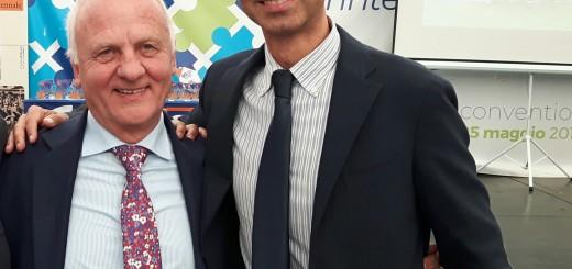 Giacomo Mattioli (dx) con il presidente nazionale Vittorio Bosio