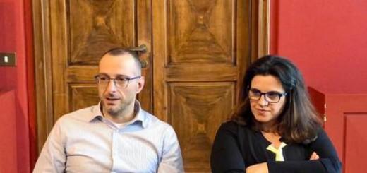 Francesca Frenquellucci (M5S) con il sindaco di Pesaro Matteo Ricci